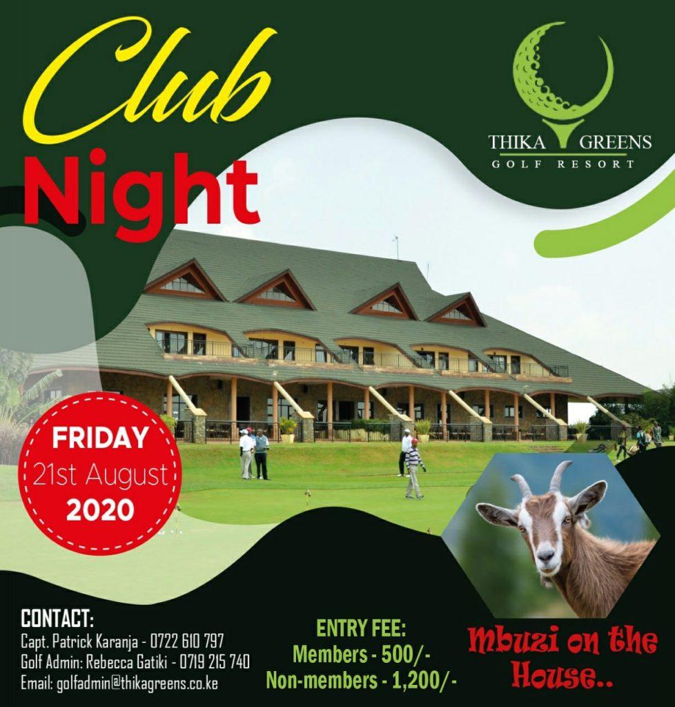 Club night 12/08/2020